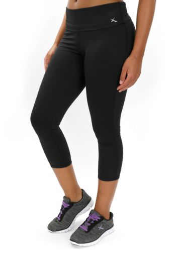 Foldover Waist Cropped Leggings
