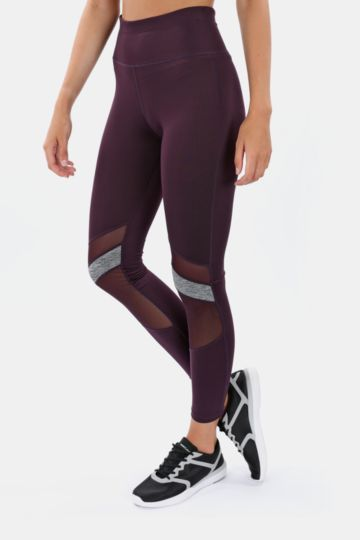 Mesh Detail Full-length Leggings