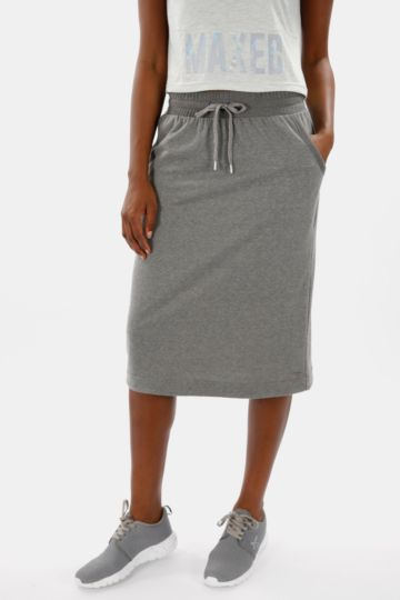Knee-length Polycotton Skirt