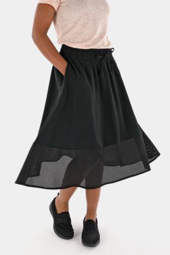 Mesh Detail Skirt