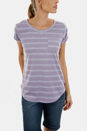 Striped Polycotton T-shirt