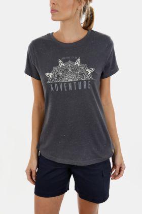 V-neck Statement Print T-shirt