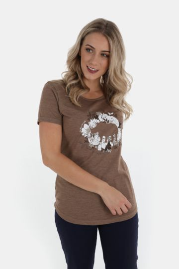 Polycotton Scoop Neck Tee