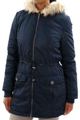 Fur-lined Hooded Jacket