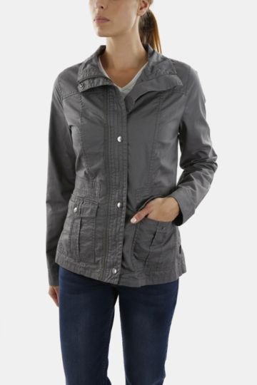Cotton Turtleneck Jacket
