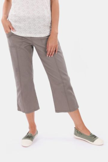 Twill Cropped Bottoms