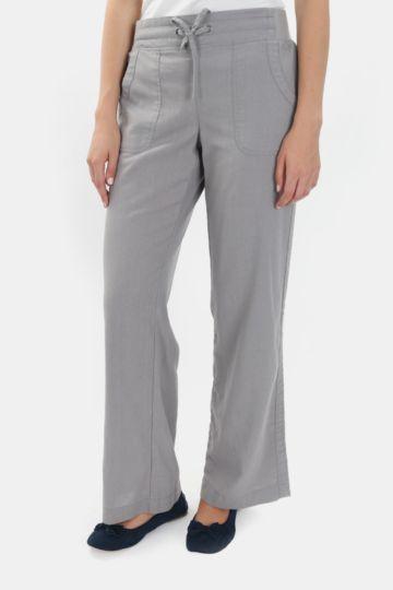 Straight Leg Poplin Pants