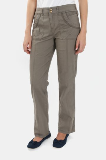 Straight Leg Cotton Pants