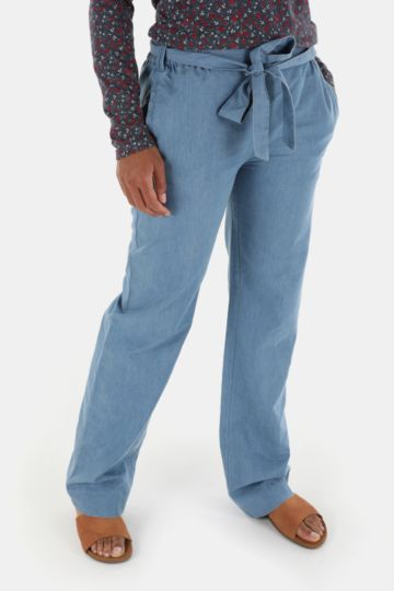 Denim Straight Leg Pants