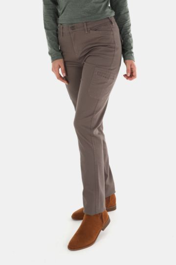 Straight Leg Twill Pants