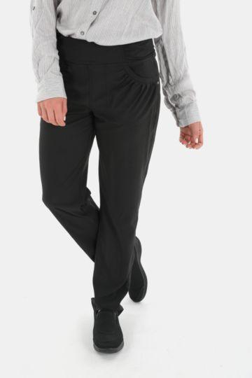 Ruching Detail Straight Leg Pants