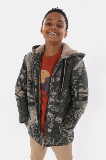 Sherpa-lined Camo Hoodie