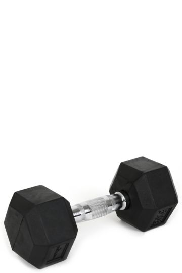 9kg Rubber Hexagon Dumbbell