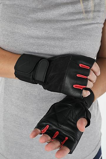 Leather Wrap Gym Gloves
