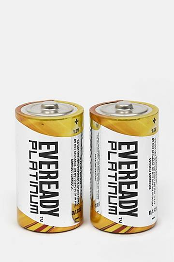 2-pack Eveready Platinum Battery - D
