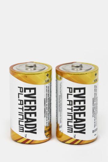 2-pack Eveready Platinum Battery - D