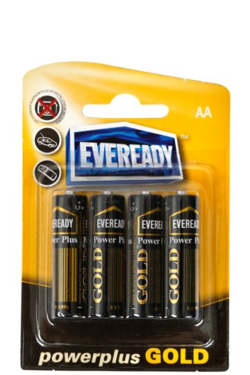 Power Plus Gold Aa Batteries-4 Pack
