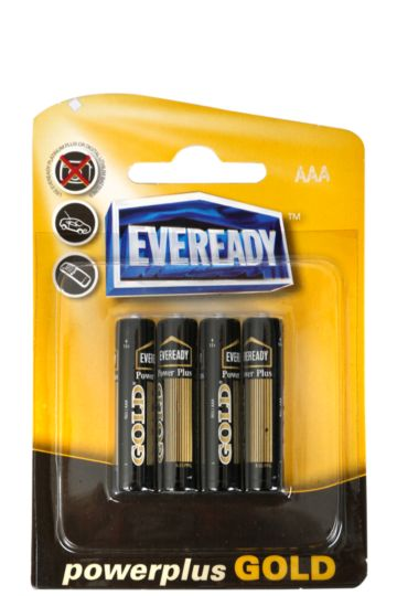 Power Plus Gold Aaa Batteries-4 Pack