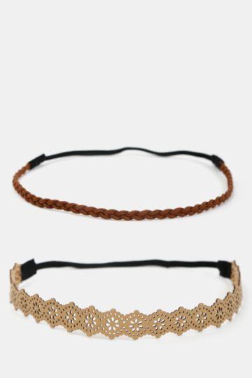 2-pack Suede Headbands