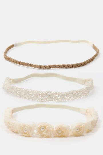 3-pack Lace Headbands