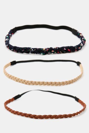 3-pack Braided Headbands