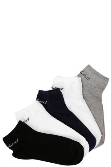 5 Pack Trainer Liner Socks 8-12