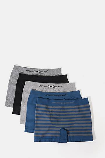 5-pack Seamless Knit Boxer Briefs