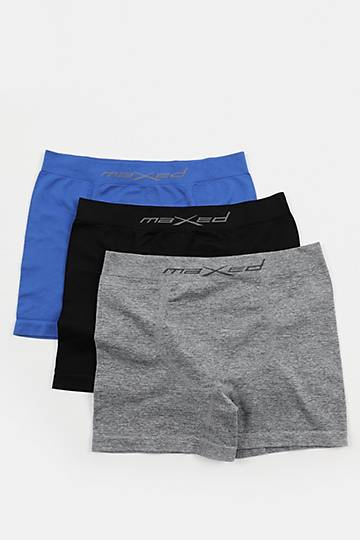 3-pack Seamless Knit Boxer Briefs