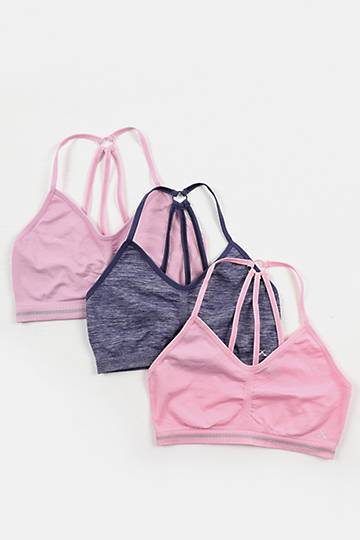 3-pack Seamless Knit Sports Bras
