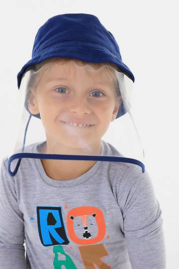 Kids' Bucket Hat With Face Shield