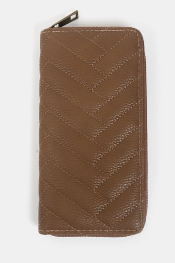 Quilted Zip-up Purse